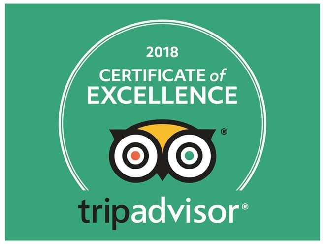 Certificate of Excellence - Tripadvisor